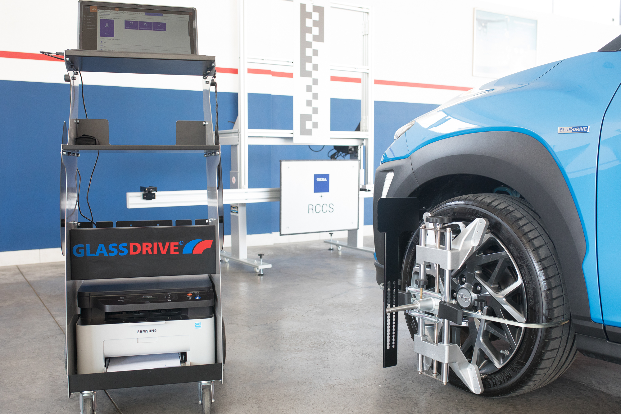 ADAS Side Wheel Glassdrive Station
